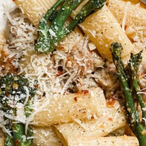 Spicy sausage with broccolini pasta