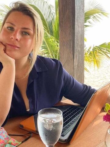 Rosanna Stevens as a digital nomad