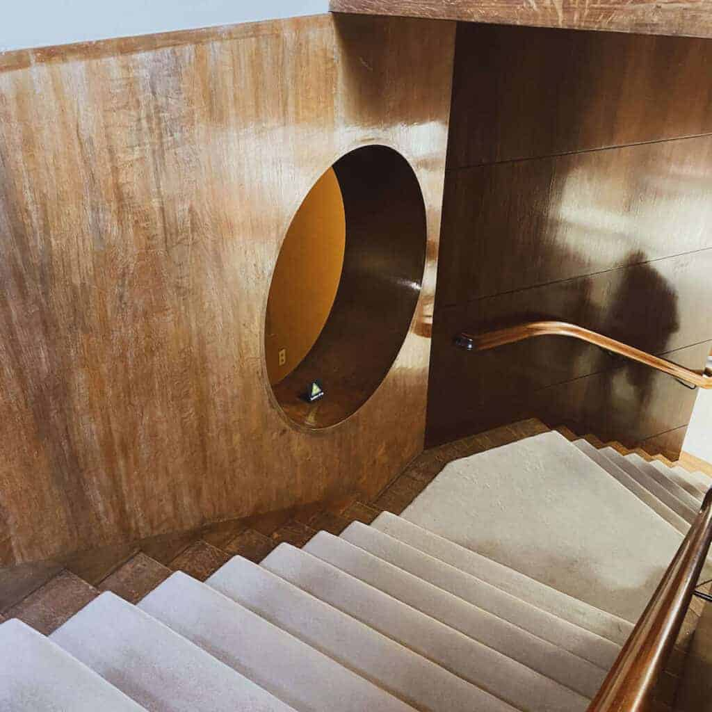 stairwell at Eltham Palace