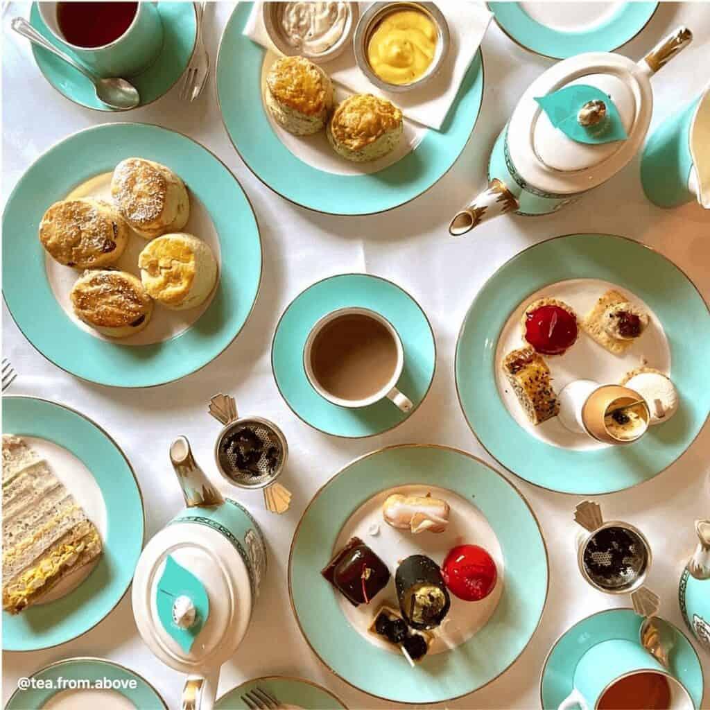 British afternoon tea spread