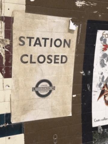 Abandoned tube station