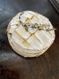 bake the camembert in the oven for 20 minutes