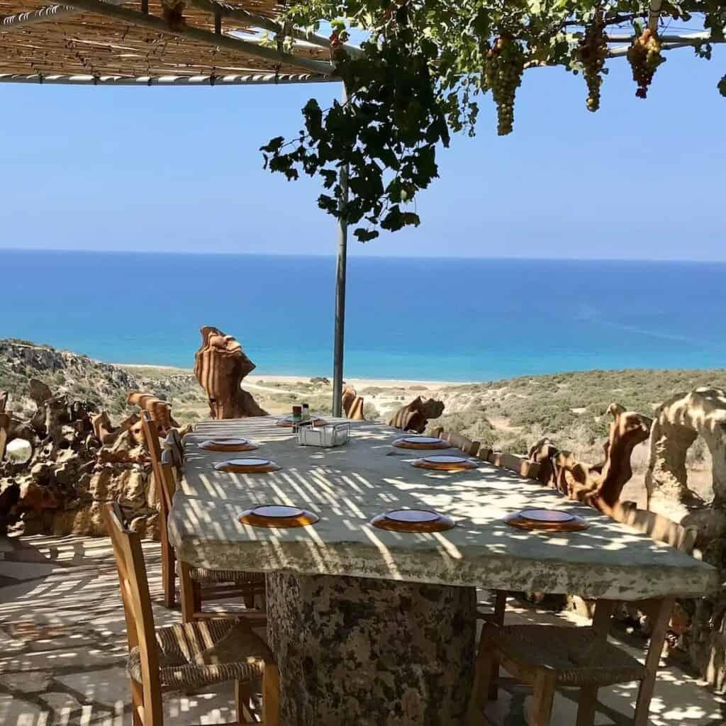 Viklari The Last Castle Cyprus overlooking the sea