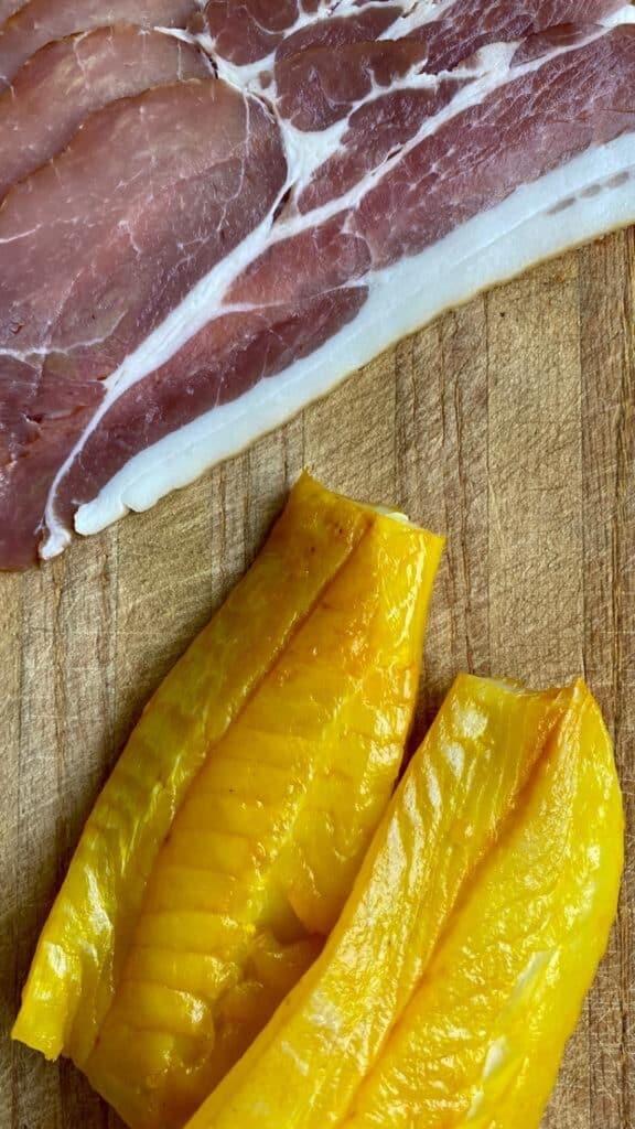 bacon and smoked haddock