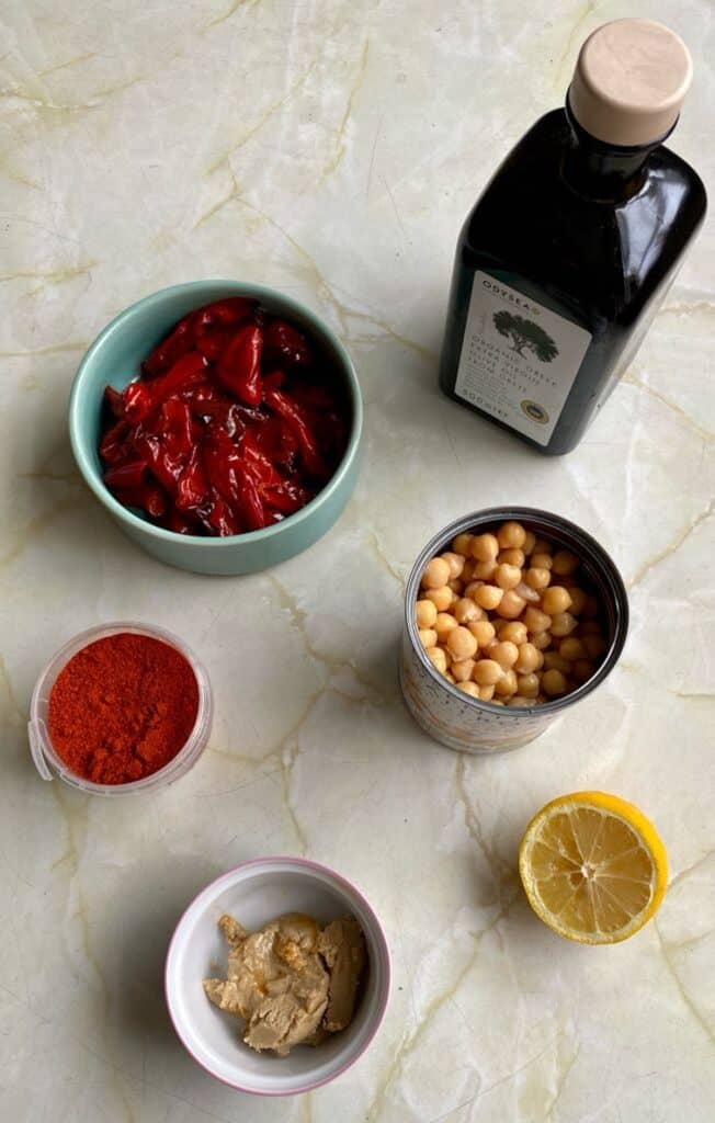 smoked paprika hummus with roasted red peppers ingredients