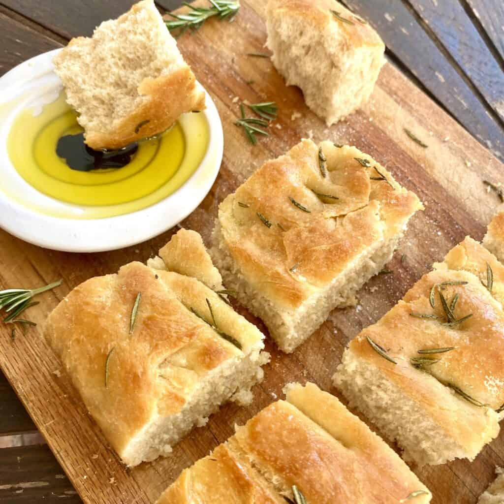focaccia with rosemary and truffle oil by Rosanna ETC
