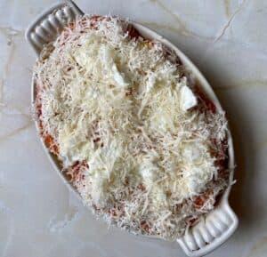 gnocchi al forno before baking